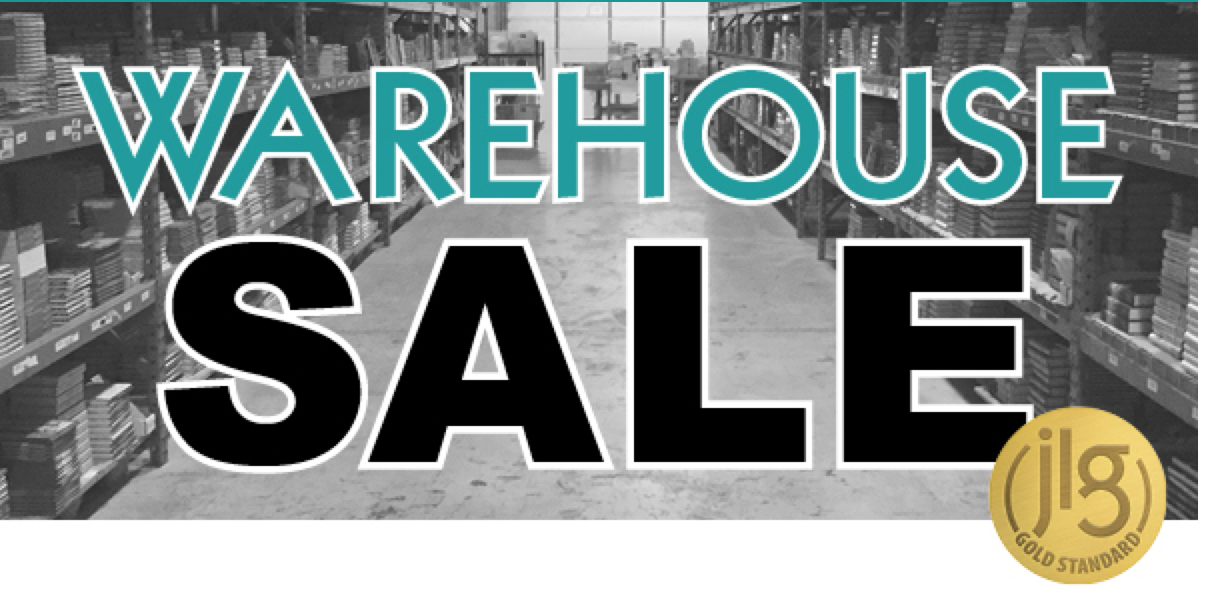 Save the Date: <br>JLG's Spring Warehouse Sale: April 20 & 21