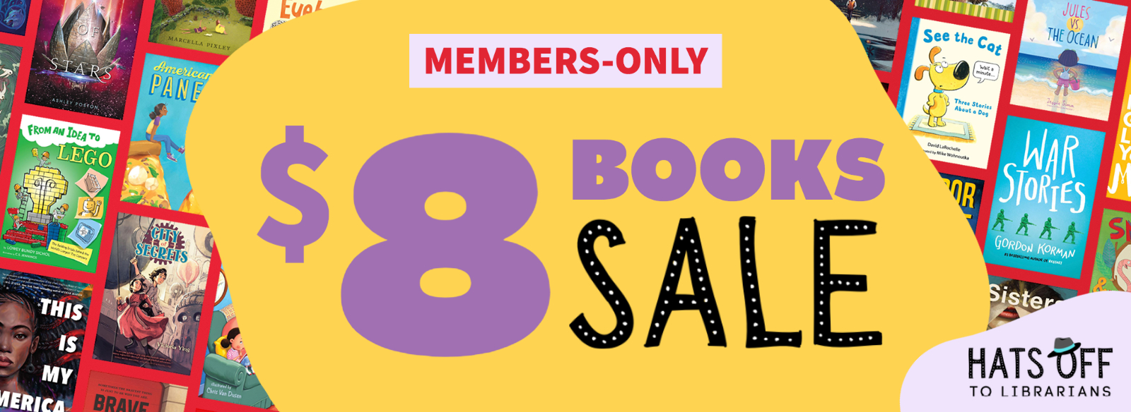 Members-only $8 book sale