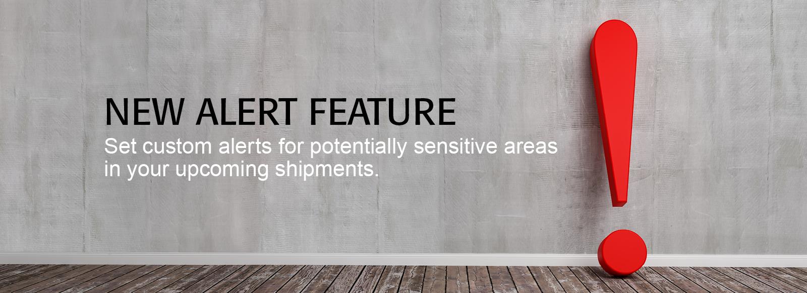 Sensitive Areas Alert Feature