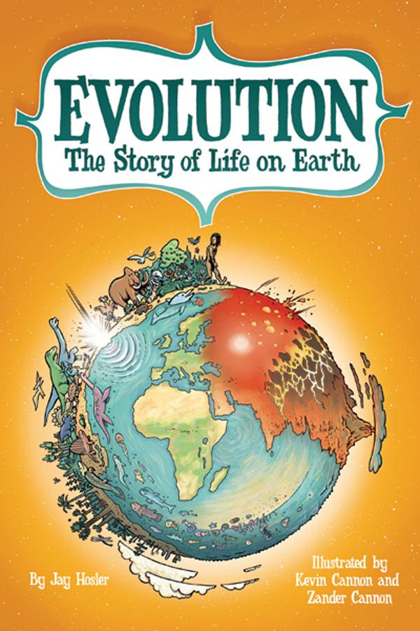 book cover for Evolution by Jay Hosler